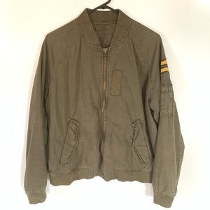AEO Military green utility bomber jacket